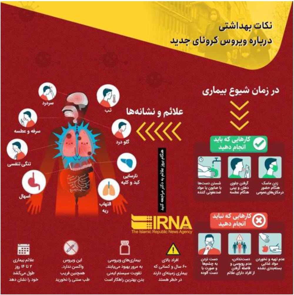 نکات بهداشتی درباره ویروس کرونا