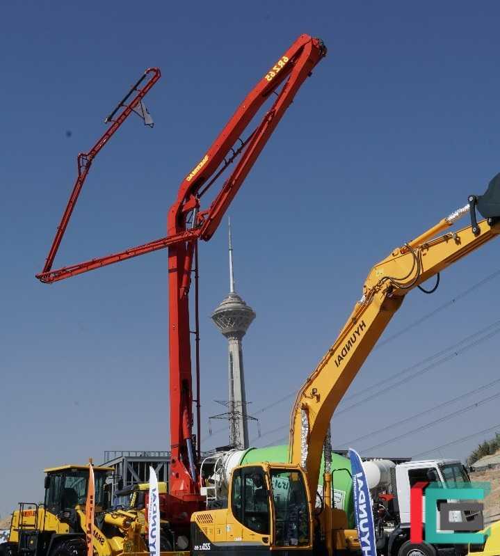 اجاره پمپ بتن دکل کوتاه، متوسط و بلند | دکل 65 متری | دکل 47 متری | پمپ ثابت | 36 متری